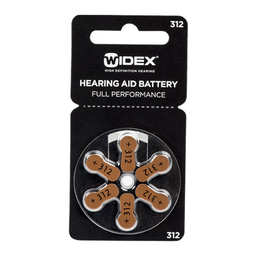 Box Of Widex Hearing Aid Batteries Size 312 Brown 60